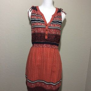 Lucky Brand Boho Print V-neck Dress